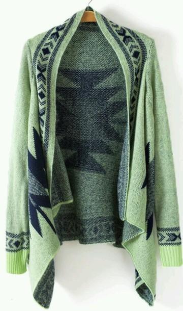 cardigan mint green cardigan