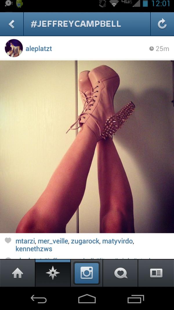 shoes jeffrey campbell jeffrey campbell lita pink heels lita spikes