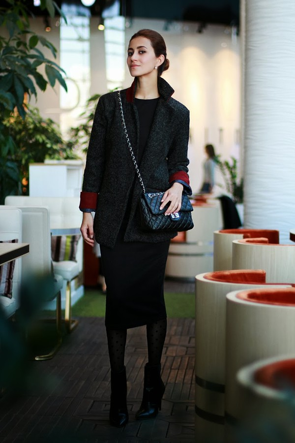 tina sizonova coat shoes dress jewels