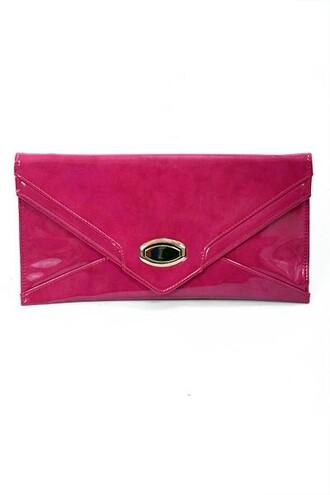 bag clutch purse pink pink accessories pink clutch sleek classic vibrant