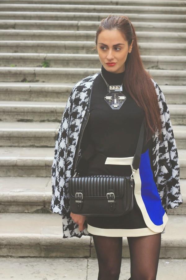 marie zamboli bag jewels coat shoes shirt skirt