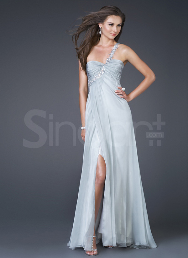 dress for wedding party and  foraml evening made of chiffon sleeveless floor length
