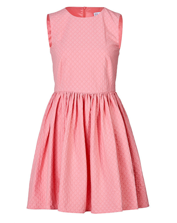 dress stretch cotton jacquard dress red valentino