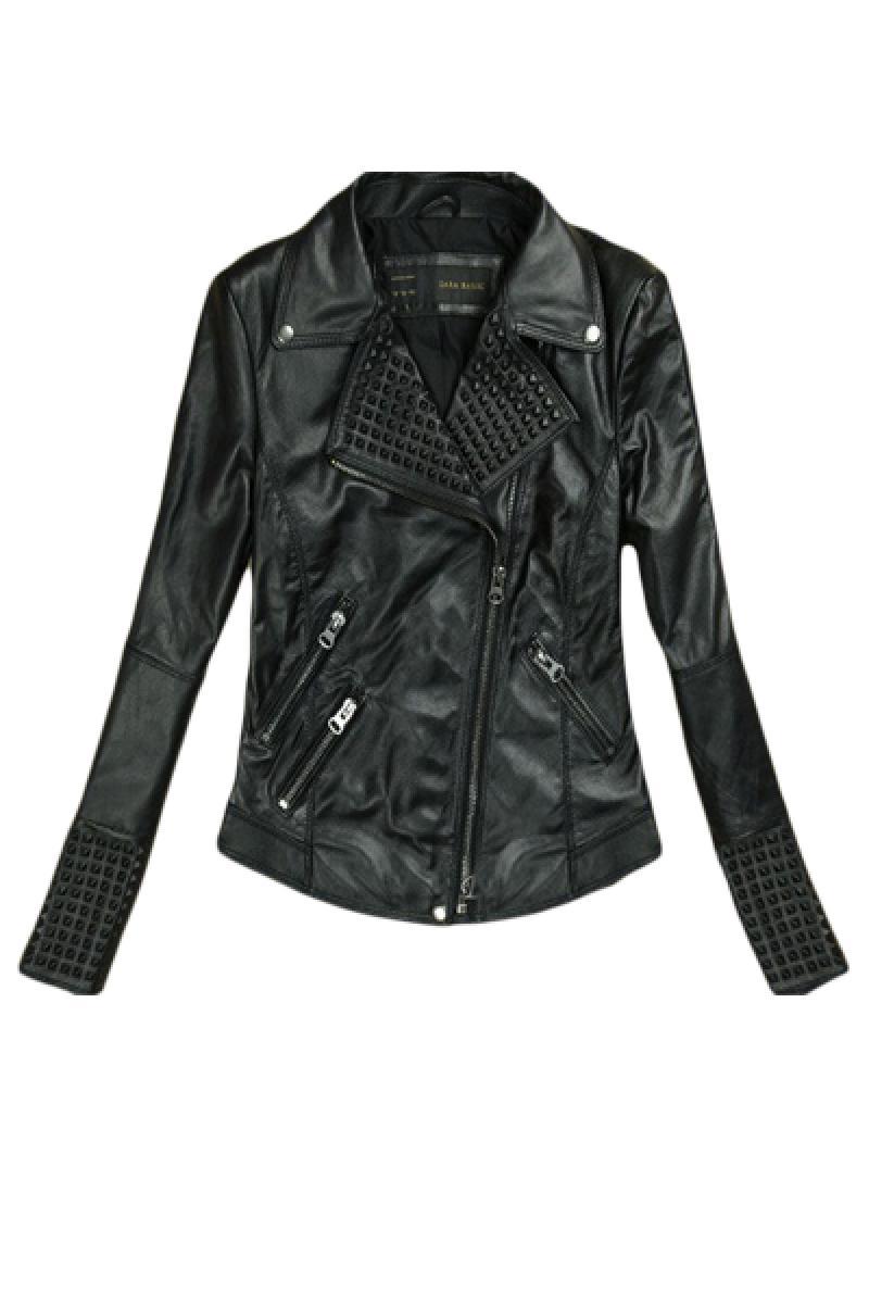2013 New Section Rivet Embossing PU Short Biker Jacket,Cheap in Wendybox.com