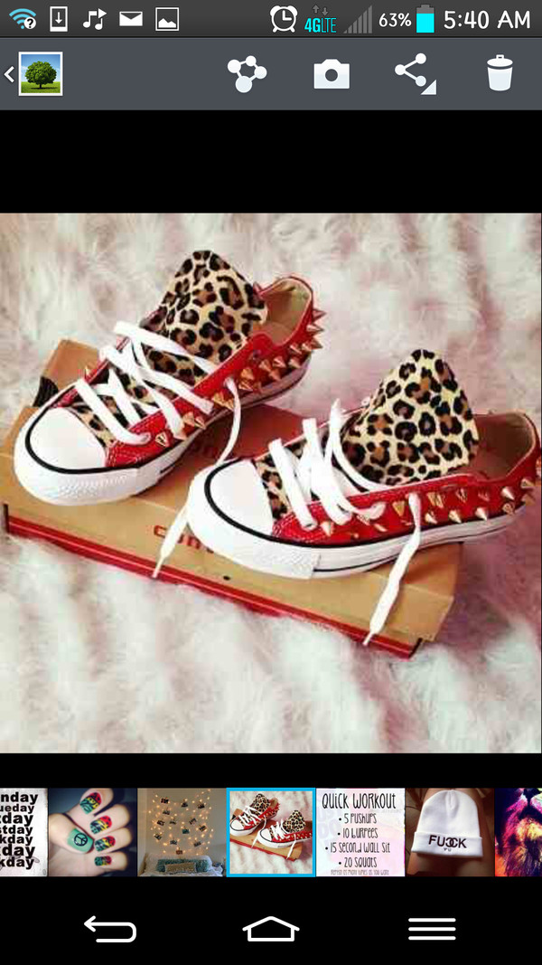 shoes converse studs red