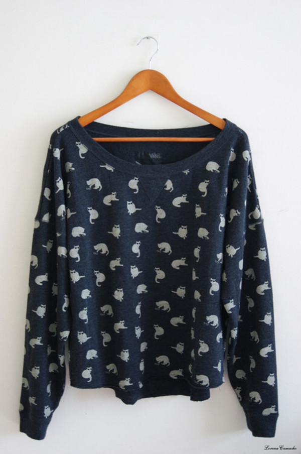 sweater vans christmas cats