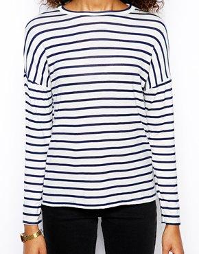 Daisy Street | Daisy Street Slubby T Shirt in Stripe at ASOS