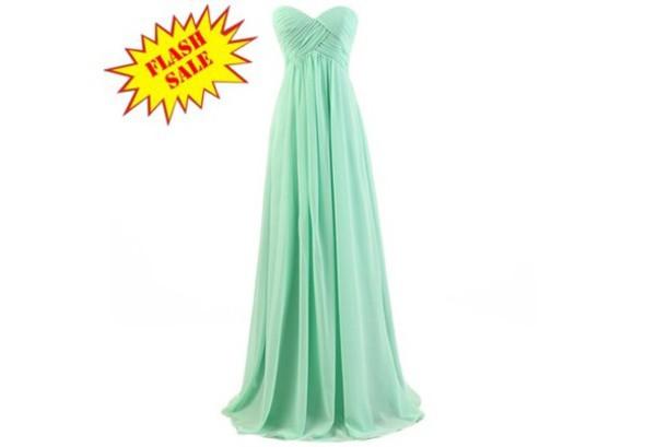 dress chiffon long dress mint dress long prom dress long bridesmaid dress