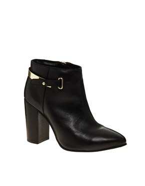 ASOS | ASOS ADIOS Leather Point Ankle Boots at ASOS