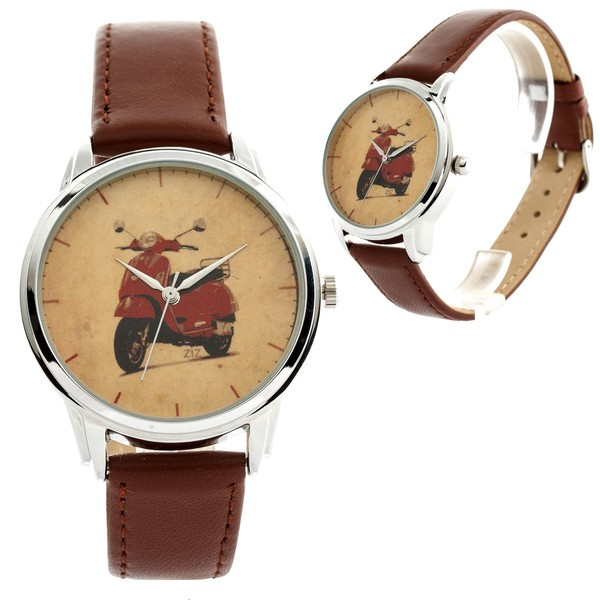 jewels ziziztime brown watch watch ziz watch motorbike