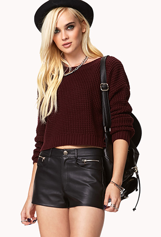 Faux Leather Shorts | FOREVER 21 - 2002246151
