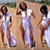 2014 Summer Women's Sexy sleeveless Slip Jersey Deep V White Long Maxi High Side Split Top Dress Free Shipping b40340-in Dresses from Apparel & Accessories on Aliexpress.com