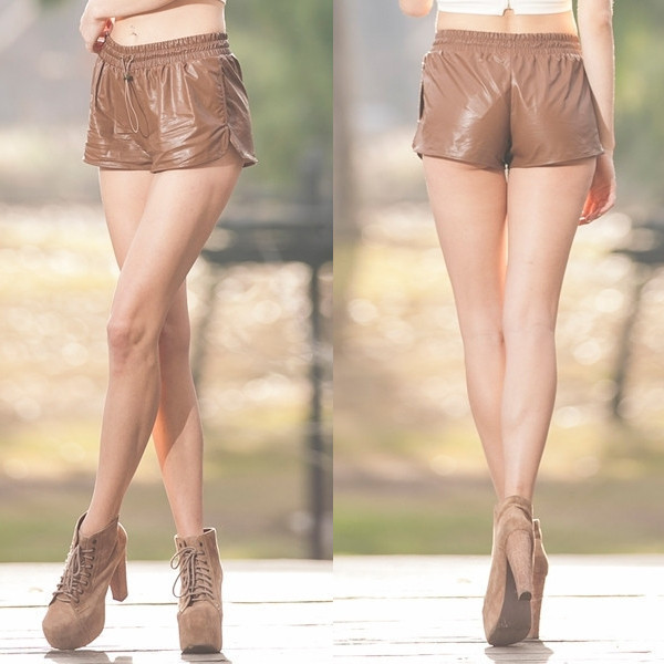 shorts down under faux leather brown mini makeup table vanity row dress to kill epic vogue party