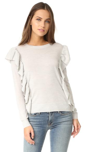 sweater fashion clothes club monaco fine knit flutterby
