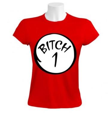 BITCH 1 BITCH 2 Women T-Shirt   Couples   GreenTurtle.com