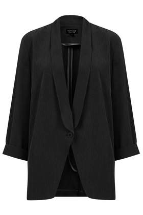 Crinkle Finish Blazer - Topshop USA
