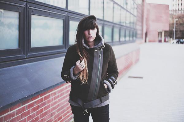jacket leather jacket fringe and frange bellevior.com