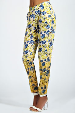 Paige Floral Trousers at boohoo.com