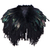 ROMWE | ROMWE Black Feathers Embellished Shawl Vest, The Latest Street Fashion