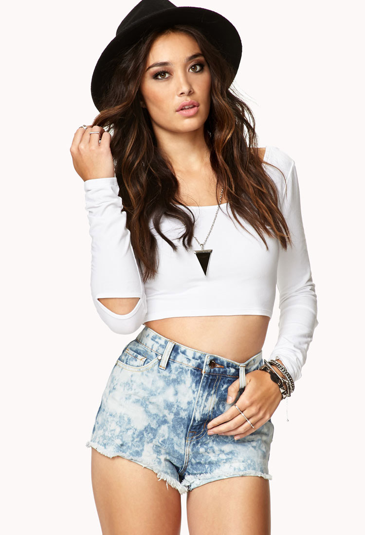 Womens knit top, crop top and long sleeve | shop online | Forever 21 -  2000051294