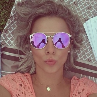 sunglasses purple and pink pink tinted glasses purple tinted glasses mirrored sunglasses mirror round gold swimwear purple sunnies pink chrome sunglasses violet sunglasses polarized sunglasses polarized shades girl cute purple sunglasses aviator sunglasses