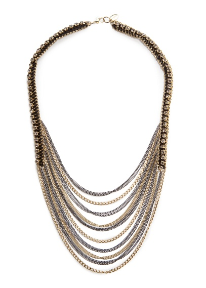 MANGO - ACCESSORIES - Jewellery - Strass cascading effect necklace