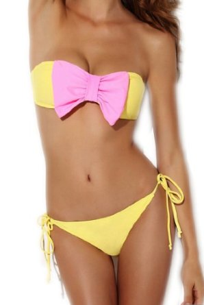 Amazon.com: Sunnydate @2014 NEW Style Swimwear for Women with Big Bowknot: Clothing
