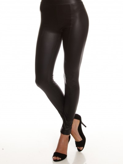 Faux Leather Leggings in Black - Glue Store