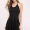 Skater dresses | fit and flare, white, black, long sleeved, lace| tobi