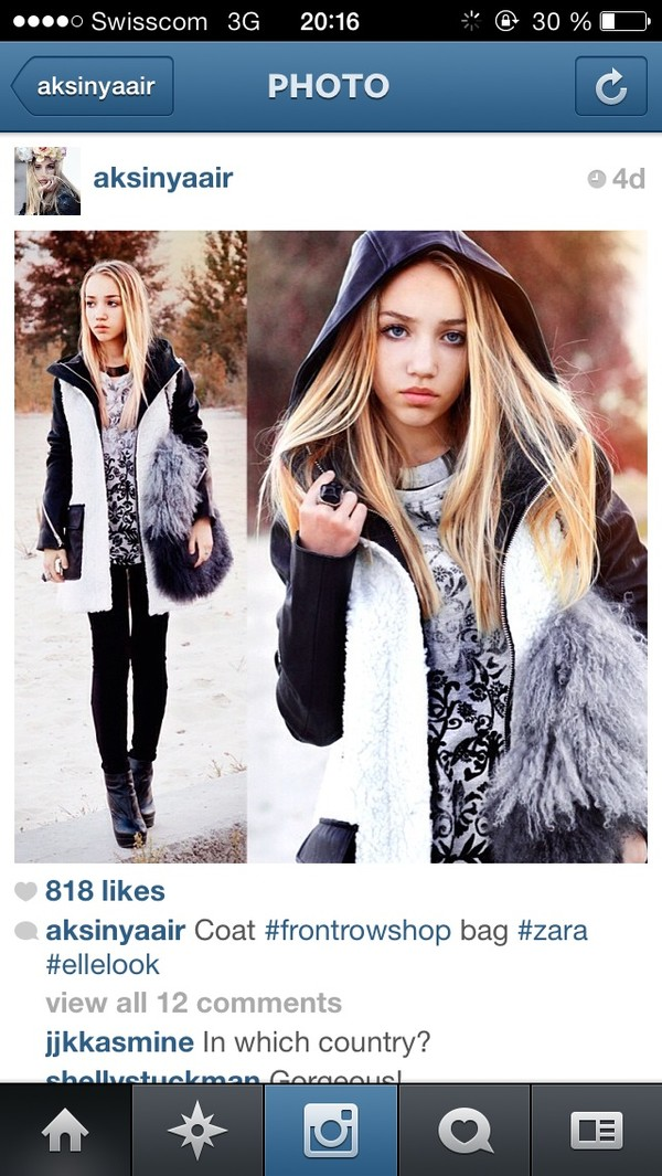 coat fluffy black and white black white winter outfits jacket snow leather bag