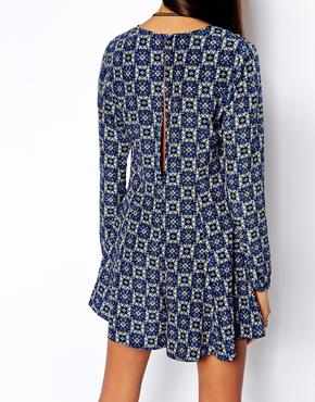 ASOS | ASOS Reclaimed Vintage Playsuit With Open Back In Print at ASOS