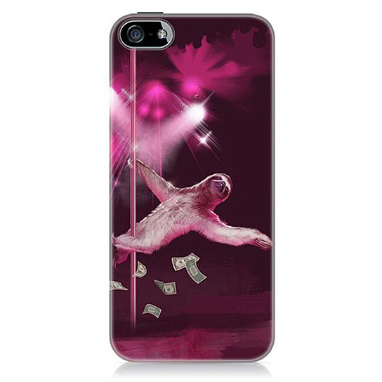 Stripper Sloth iPhone 5 Hard Case from Sharp Shirter - Products tagged with cases, phone, techgadgets