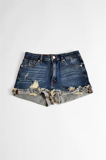 Summertime Sweetie Shorts - Denim at Bluetique Cheap Chic