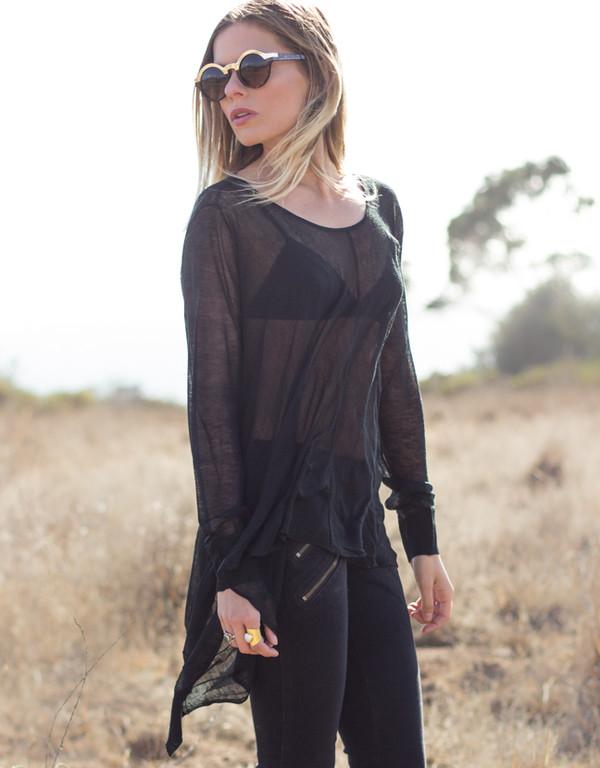 shirt shopcoolie sweater top black bohemian
