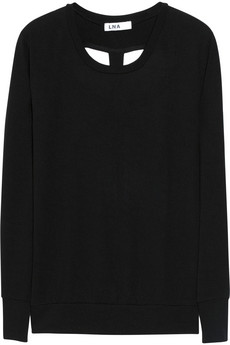 Cedros cutout fine-knit sweater | LNA | 84% off | THE OUTNET