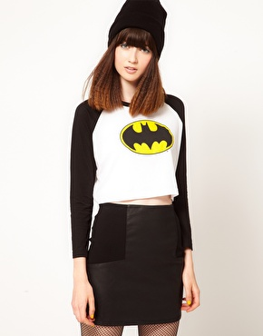 Lazy Oaf | Lazy Oaf x Batman Exclusive Crop Top With Logo at ASOS