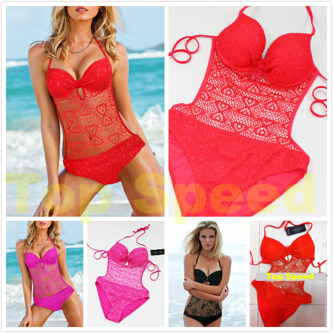 Aliexpress.com : Buy 2014 Stylish knitted sexy swimsuit lace one pieces swimwear for women,print floral swimsuits Size s xl,free shipping from Reliable swimsuit monokini suppliers on Top Speed