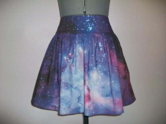 Carina Nebula/Galaxy Print Skirt by ComplementsByJo on Etsy