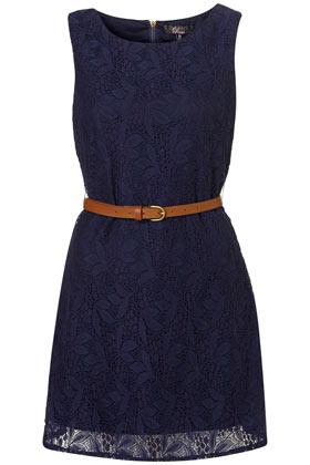 Robe en dentelle à ceinture Rare - Robes  - Vêtements  - Topshop France