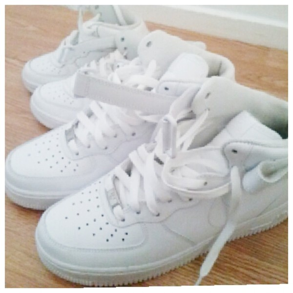 shoes nike air force 1 white baby me classic sneakers