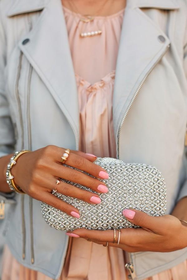 viva luxury jewels bag jacket nail polish dress