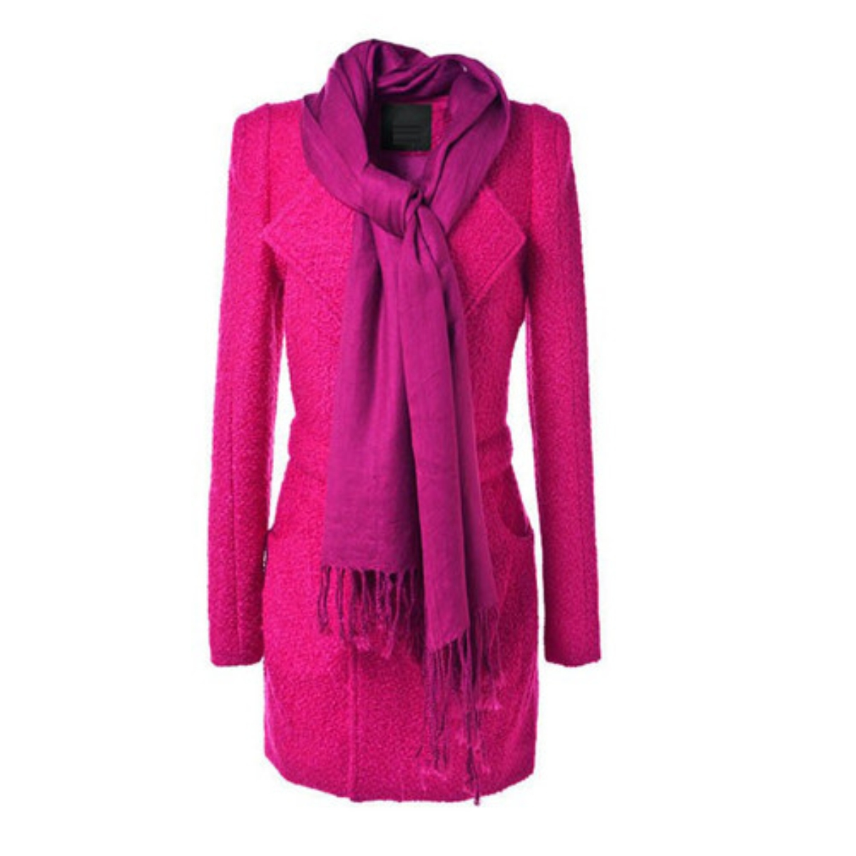 Plain Lapel Long Sleeve Woolen Coat,Cheap in Wendybox.com