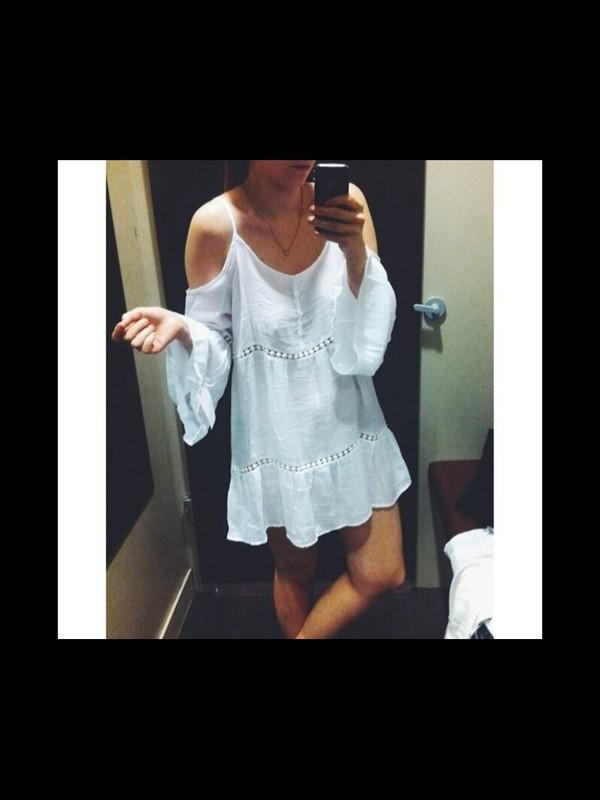 dress cute white retro