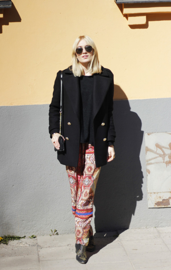 josefin sunglasses coat sweater jewels pants shoes