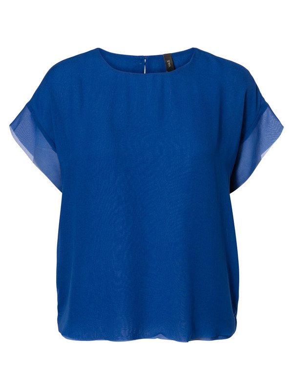 blouse see-through short sleeved blouse y. a. s.