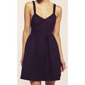 PEAR - Dahlia Sophia Black Jacquard Cross Bow Dress