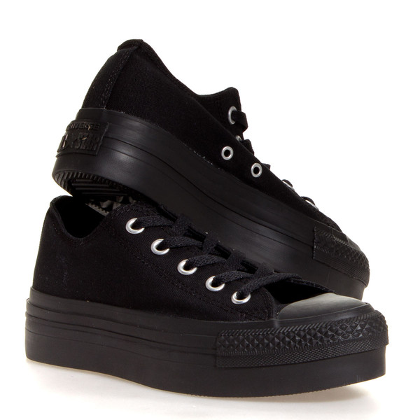 shoes converse black platform shoes sneakers chuck taylor all stars