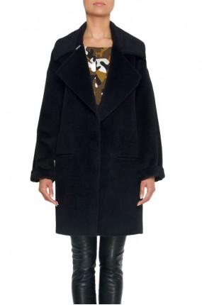 Simple - Płaszcz czarny  - odzież damska marki Simple - Answear.com