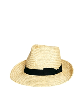 Catarzi | Catarzi Exclusive to ASOS Straw Hat with Black Ribbon at ASOS