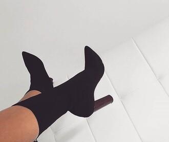 shoes heels black black heels mid calf boots boots zina high heels boots